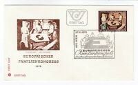 Austria 1978 FDC  European Conference on the Family First Day Cover Post History