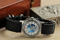 Exclusive Wristwatch Pobeda World Time City Watch Mechanical +New Leather Strap