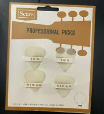 Vintage SEARS Professional Guitar Pick Card with 4 Picks Original MADE IN ITALY!