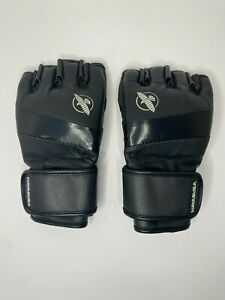 Hayabusa T3 MMA 4oz Gloves, Size MEDIUM Black leather fighting and sparring gear