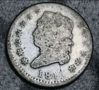 1811 Classic Head Bust Large Cent 1C Ungraded Damaged Date US Copper Coin CC5592