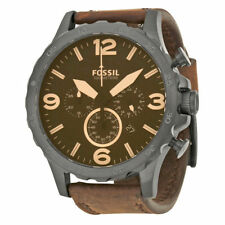 Fossil Original JR1487 Mens Nate Brown Leather Watch 50mm