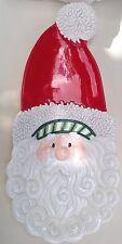 Fitz and Floyd Santa Hand-Painted Christmas Holiday Tray