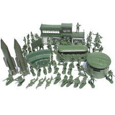 56 PCS militaire Missile modèle de base Playset Toy Soldier Vert 5 cm Figure Armée Hommes