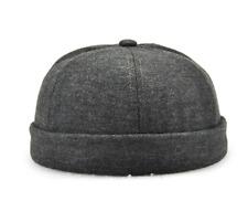 Unisex Fashion Miki Cap Cotton skull cap Beanie hat Black Navy Short Watch cap