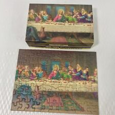 Tuco Puzzle Miniature The Last Supper Vintage Triple Tripl Thick Jigsaw