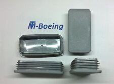 Lamellenstopfen Endkappen Stopfen Rechteck-Rohr 120x60 WS2,0-4,0mm in Grau