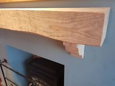 """Oak Beam Mantle Piece - 4ft - 4x5"""" Fireplace Surround - Rough Sawn FREE delivery"""