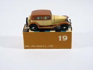 Rio n° 19 Alfa -Romeo 6 c 1750 1932 1/43 neuf en boite/boxed