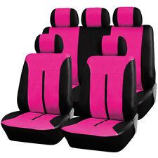 Auto Sitzbezug Sitzbezüge Schonbezüge Universal Neu Pink/Schwarz AS7288pk