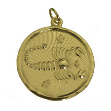 Rare SCORPIO Pendant Real 10K GOLD Solid Zodiac Charm Jewelry Star New astrology