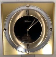 Vintage Waltham Wall Clock - Mid Century Modern Gold - Working *****************