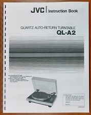 JVC QL-A2 Turntable Owners Manual