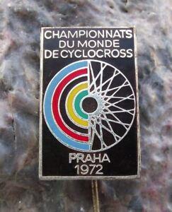 1972 UCI Cyclocross World Championships Prague Bike Czech Bicycle Race Pin Badge