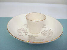 Vintage Mid-Century CARDINAL CHINA Hostess Chip & Dip Attached Bowl Dip Recipes
