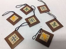 7 Rustic Primitive Country Christmas metal tin tree ornaments star snowflakes
