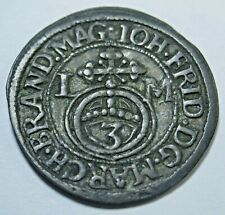 Germany 1684 3 Kreuzer Brandenburg Ansbach Johann Friedrich Old Antique Coin