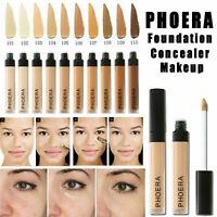 PHOERA Foundation Concealer Make Up Soft Brighten Matte Long Lasting Coverage ~