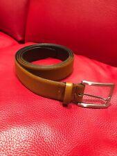 New Ermenegildo Zegna leather belt Caramel light brown size 125/48