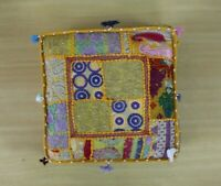 New Large Square Embroidery Patchwork Home Decorative Floor Pillow Cushion Cover