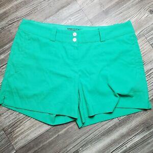 Women's Nike Golf Green Dri-Fit Tour Performance Flap Pocket Shorts Size 12