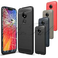 For Motorola Moto G7 Play XT1952 New Clear Gel Phone Case Cover + Tempered Glass