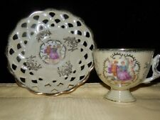 Vintage Royal Crown, Demitasse Cup And Saucer with Lattice Work