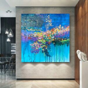 LARGE 3D Abstract Art painting Original Contemporary Prize Modern Flower Gallery