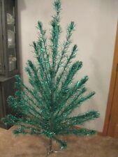 Rare Vintage A Holi-gay 6' Holly Green Flocked Aluminum Christmas Tree 6ft