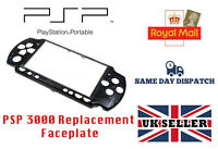 REPLACEMENT FACEPLATE FOR PSP 3000 3XXX BLACK PLAYSTATION PORTABLE PSP3000 -NEW