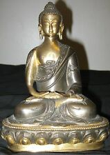 ANTIQUE TIBET BRONZE COPPER GOLD GILD SAKYAMUNI BUDHA