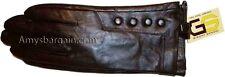 New Medium women's Leather Gloves, Winter Dressy Brown leather Warm Gloves, bnwt