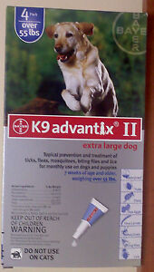 Bayer K9 Advantix II for Dogs over 55 lbs 4 pack #7025