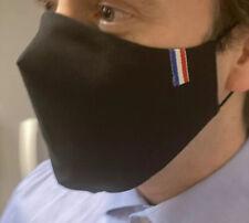 Masque NOIR De Protection Made in France Coton triple épaisseur PORTE FILTRE PM