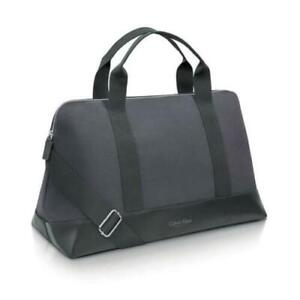 CALVIN KLEIN DUFFLE HOLDALL WEEKEND Gym TRAVEL OVERNIGHT FLIGHT BAG black blue .