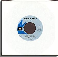 """Ann Peebles - Mon Belle Amour + Waiting - 1981 Hi/Cream 7"""" 45 RPM Single!"""