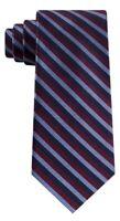 """Tommy Hilfiger Village Classic Textured Stripe Silk Neck Tie blue 3-1/8"""" wide"""