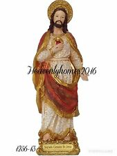 "Sacred Heart of Jesus/ Sagrado Corazon de Jesus Statue 13"" -1256-13"