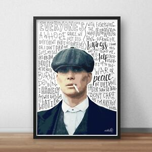Thomas Shelby Poster / Print / Wall Art A4 A3 A2 A1 / The Peaky Blinders / Tommy