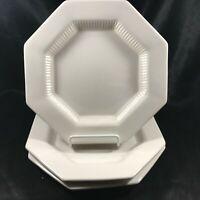 Set of 3 NIKKO CLASSICS COLLECTION White Octagon Salad Plates