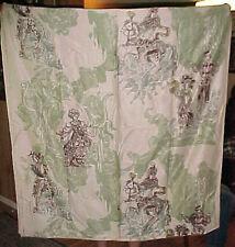 Vtg Mid Century Fabulous Fabric Vat Panel Cohama Hand Print Masquerade Large