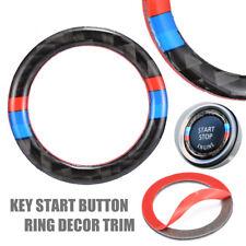 For BMW 3 Series E90 E93 2006-2011 Engine Start Button Ring Trim Carbon Fiber