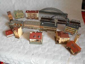 N gauge continental buildings shops flats houses etc kibri vollmer herpa
