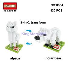 Hsanhe 2-in-1 Animal Series Alpaca Polar Bear DIY Mini Building Nano Block Toy