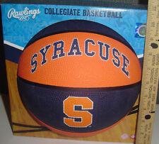 Ncaa SU Syracuse University Orange FULL SIZE Basketball Rawlings Display game