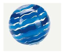 """7"""" Inflatable Blue Striped Beach Ball Fits 18"""" American Girl  Dolls"""
