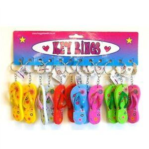 Flip Flop Keyring Novelty Colour Sandal Keychain Flip Flop Keychain