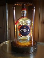 Steampunk Upcycled rustic Opihr gin bottle  Lamp Industrial Natural gift