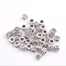 50/100Pcs Tibetan silver big hole flowers Charms spacer beads Jewelry 6MM JK3086