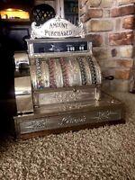 Restored Late 1800's Model 92  Antique Nickel Plate Brass National Cash Register